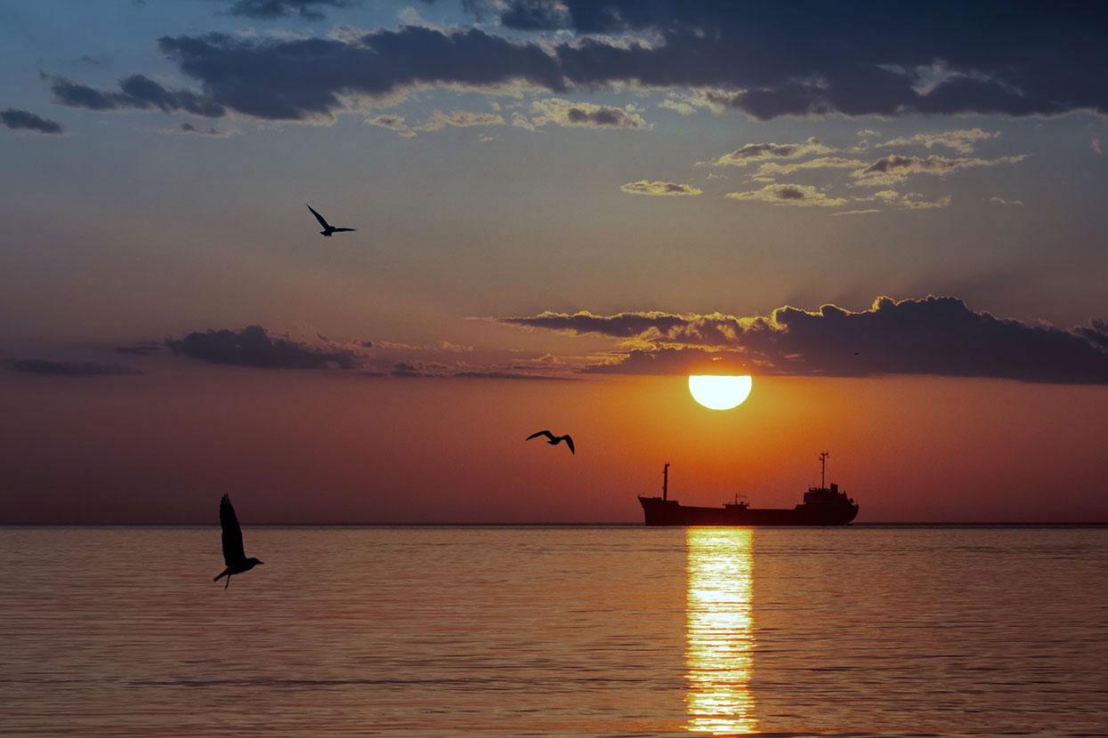 джинтоли крым море на закате фото туристов оргстекло