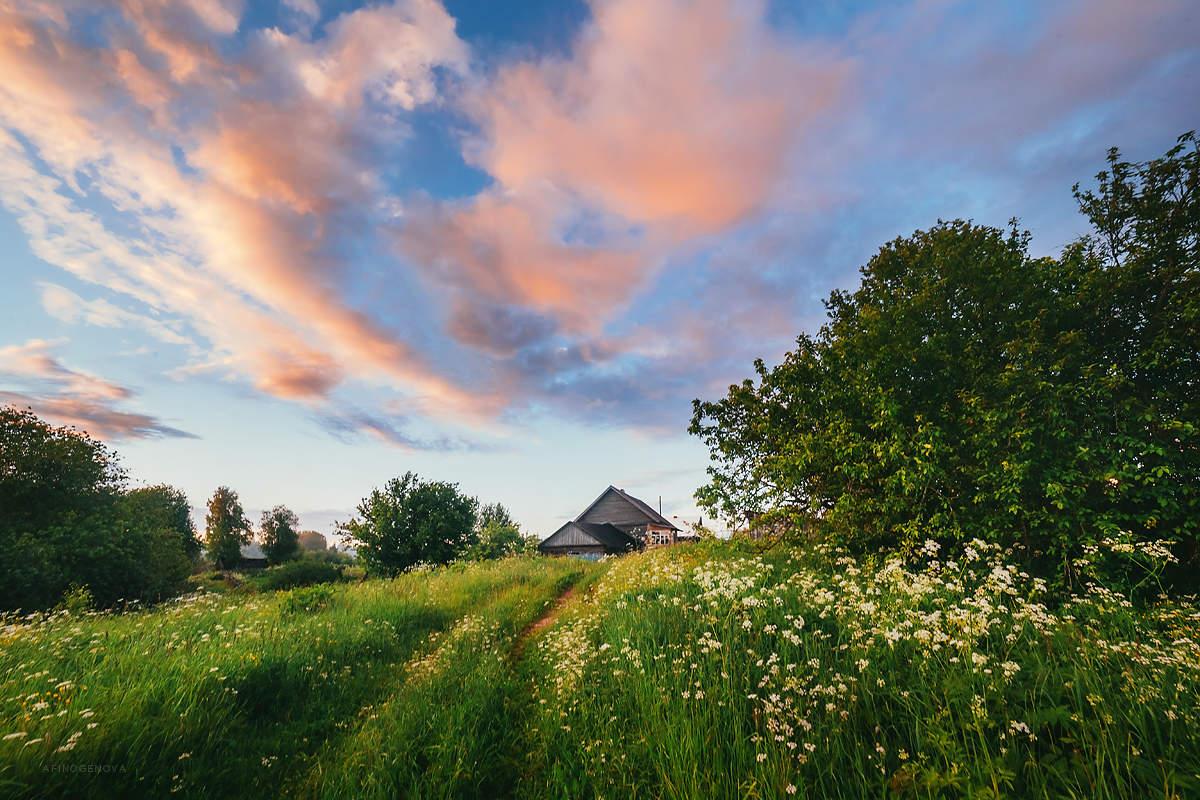 картинка летнее утро в деревне грузии