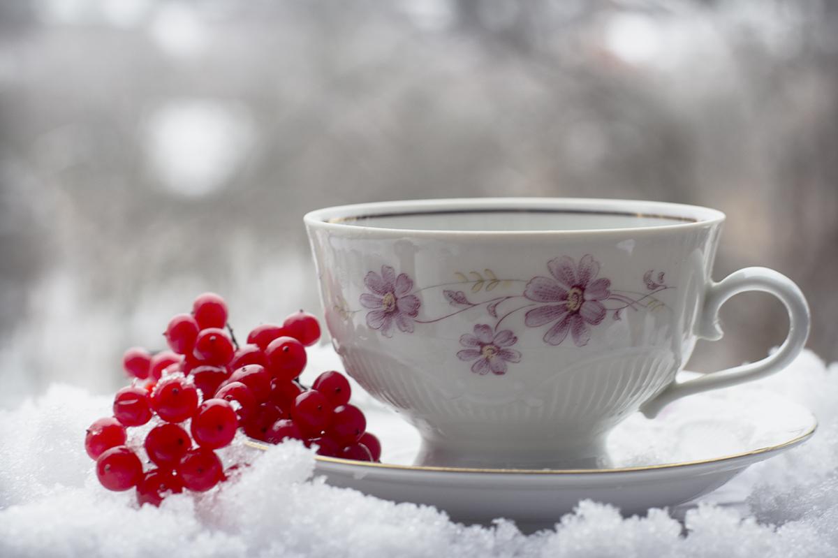 картинки чашек зимой нее
