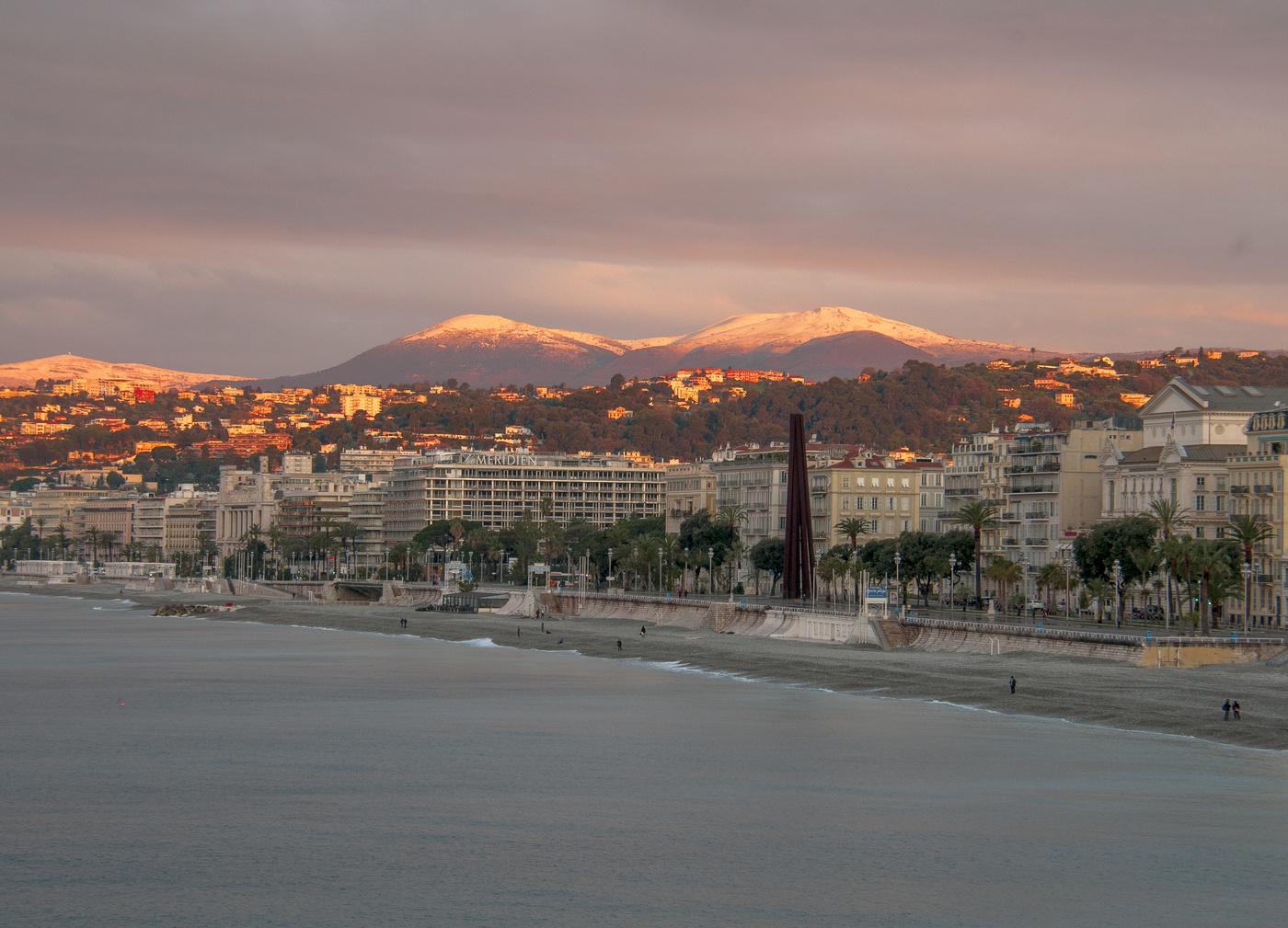 Ницца фото города зимой