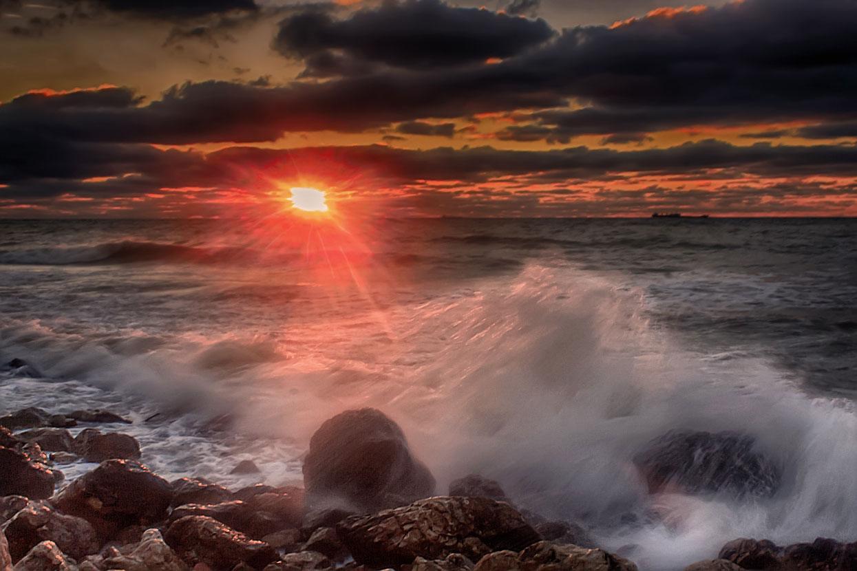 время шторм закат крым фото природа