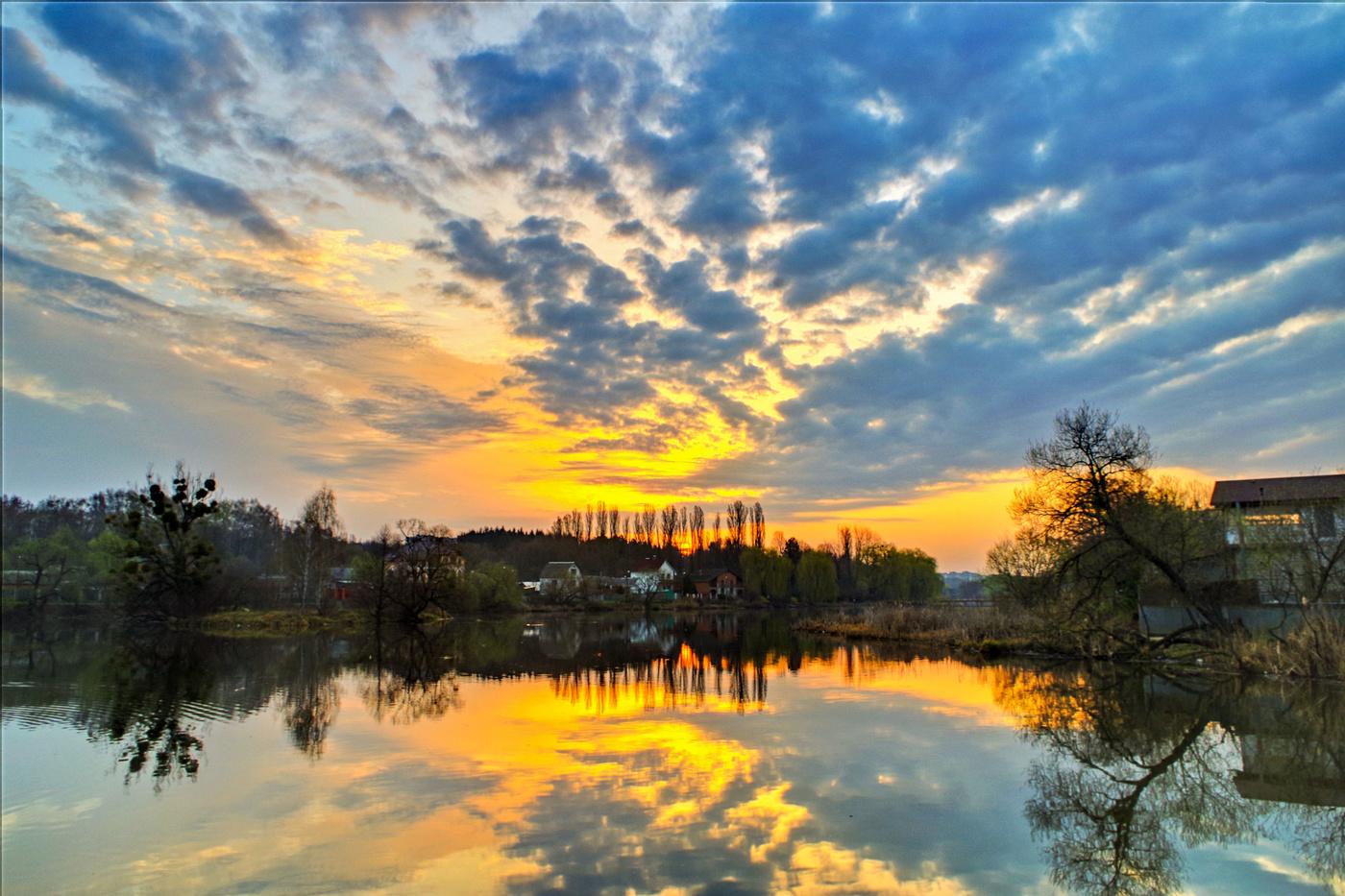 Апрельское утро картинка
