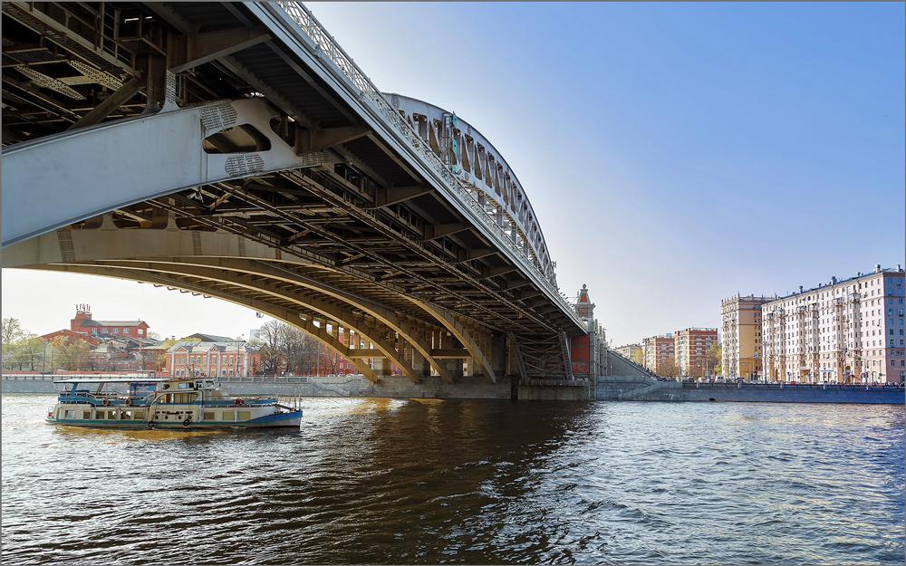 когда андреевский мост в москве фото около пяти