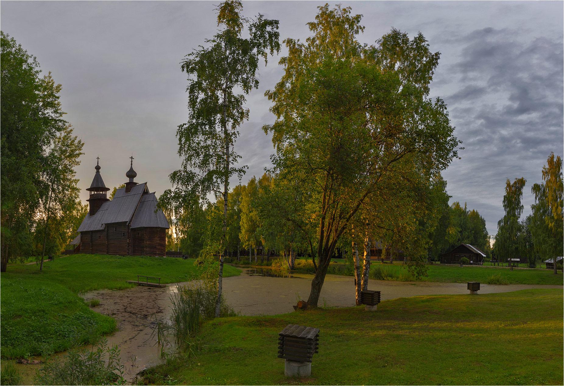 Открытка кострома музей деревянного зодчества
